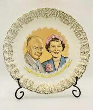 More details for rare vintage us president & mrs dwight d eisenhower souvenir plate c1953 ozark