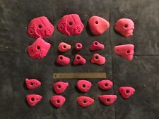Lot of 15 Indoor Pink Jugs and Crimps Rock Climbing Holds Used With 6 Feet