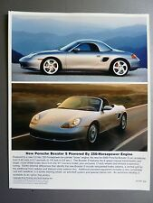 2000 / 2001 Porsche Boxster Roadster Full Color Press Photo Factory Issued RARE!