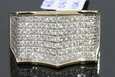 10K SOLID YELLOW GOLD 1.60 CARAT REAL DIAMOND ENGAGEMENT RING WEDDING PINKY RING