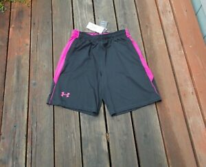 Under Armour Power In Pink Basketball Shorts Size Large New W/Tags