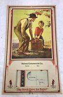 VTG Art Deco Poll Parrot Shoes1936 Advertising Calendar Haines Comm Co Oregon