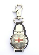 George's Cross Clip on Leather Fob Pocket Watch Flag Gift