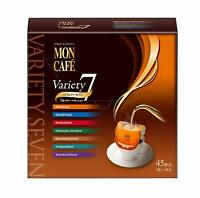 45 cups MON CAFE Regular Coffee Drip Pack Variety 7 easy & tasty