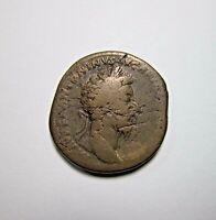 AE SESTERTIUS. MARCUS AURELIUS. 161-180 AD. ROME. SCARCE PROVIDENTIA REVERSE.