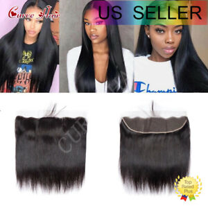 13X4 Transparent HD Lace Frontal Unprocessed 7A Brazilian Human Hair Body Wave