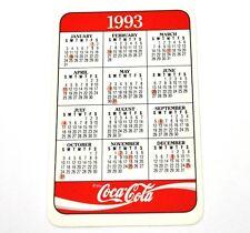 COCA COLA USA Calendario tascabile CALENDARIO Pocket calendario 1993