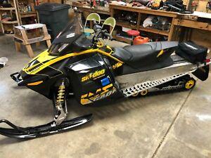 2010 Ski-Doo Renegade 1200 Adrenaline snowmobile, high mileage, runs excellent