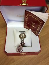CARTIER GENUINE LADIES VINTAGE MUST DE CARTIER WATCH  BOXED