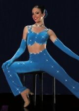 Strut Your Stuff Dance Costume Rhinestone Jumpsuit Unitard Clearance Adult XL