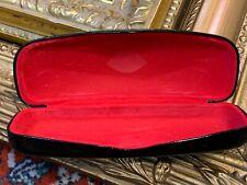 LULU GUINNESS EyeGlass Reading Glass Case BLACK RED Hardshell LIPS EU