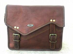 """Women's Shoulder Daily Use Handbag Satchel Business 11"""" Leather Messenger"""