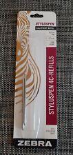 Zebra StylusPen Twist Ballpoint Pen 4C Refill, Fine Point, 0.7mm, Black Ink,