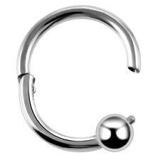 Steel Nose Hoop Septum Hinged Segment Ring 16G 8MM Clicker Daith Earring CBR