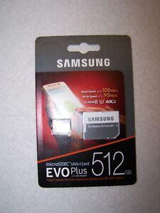 Samsung 512GB EVO plus 100MB/s MicroSD SDXC Class 10 Memory Card MB-MC512HA