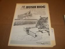 PY118) Bush Hog Sales Brochure 2 Pages - Rear Mounted Utiliy Blades and Scrapers