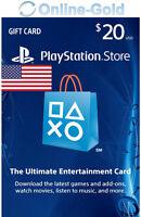 PSN Gift Card $20 USD - 20 Dollar Playstation Network US Key PS3/4 Guthaben Code