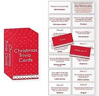 Pack Of  Christmas Trivia / What Am I Cards - Fun For Dinner Party Table