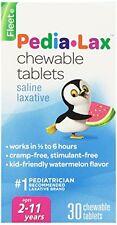 2 Pack - Fleet Pedia-Lax Chewable Tablets Watermelon Flavor 30 Tablets Each