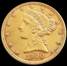1900 GOLD UNITED STATES $5 LIBERTY HEAD HALF EAGLE COIN PHILADELPHIA MINT