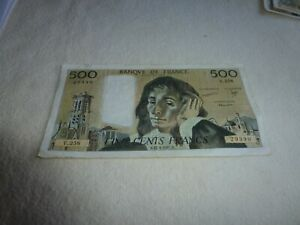 BILLET DE 500 FRANCS  PASCAL 1987