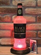 Black Velvet Whisky LED Remote Bottle Lamp Mood Lamp Man Cave Christmas Gift
