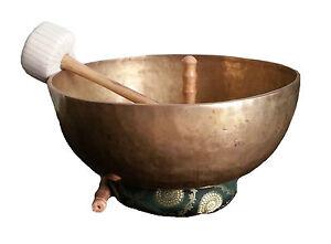 Tibet Klangschale Fußklangschale 8.8kg 46,5cm Massage Nepal Indien Therapie A15