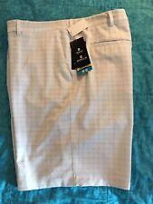 Men's White Light check Golf Shorts By PGA  Tour    Size 44