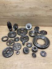 Industrial Machine Age Steel Lot 23 Gears/Cogs Steampunk Art Parts Lamp Base