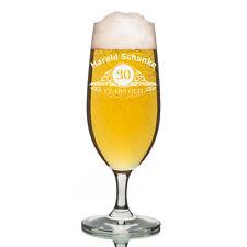 Leonardo vidrio Pilsner Copa de cerveza incl. Grabado Edad Recomendada AÑOS