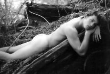 1990s Vintage Photo Nude Student Poses In Forest, 4 x6 Old Photo Re-Print