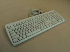 NMB Deluxe Computer Keyboard 5 Pin DIN Light Gray Clicky RT2257TW