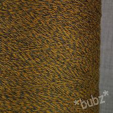 SUPER SOFT SOCK YARN MERINO NYLON 500g CONE 2 PLY GOLD GREY MARL TWEED WOOL MARL