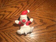 Ceramic dog with Sant Hat & Jacket Christmas Decoration