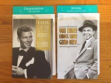 FRANK SINATRA Set of 2 Musical Greeting Cards 2008; Birthday + Congratulations