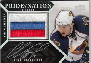 2008 UD BLACK KOVALCHUK PRIDE OF A NATION RUSSIA 3 COLOR PATCH AUTOGRAPH 10/25