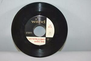 """45 RPM Russell Byrd Wand Record """" Let's Tell Him All About It"""" New York  Rock VG"""