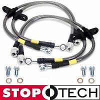STOPTECH STAINLESS STEEL BRAIDED FRONT+REAR BRAKE LINES FOR 00-06 NISSAN SENTRA