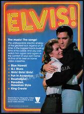 ELVIS PRESLEY__Original 1982 print AD / vid. promo ad__ROUSTABOUT__Joan Freeman