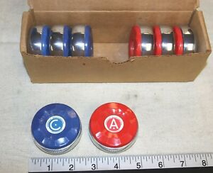 American brand large shuffleboard pucks  - set of 8 for 1 price - Genuine - New