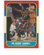 1986-87 FLEER BASKETBALL JOE BARRY CARROLL #14 OF 132 - GOLDEN STATE WARRIORS