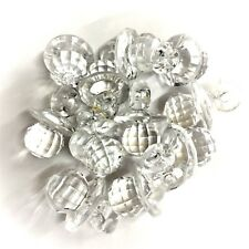 10 x Clear CRYSTAL Dummy / Pacifier Faceted Acrylic Charms, Baby Shower
