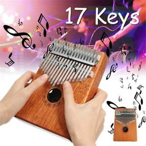 17 Key Kalimba Thumb Finger Piano Wood Mahogany Body Music Instrument Music Toys