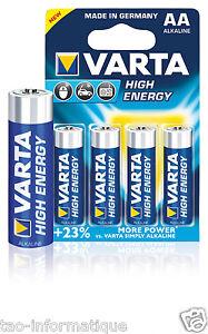 Pack Von 4 Batteries Aa / LR06 Hoch- Energy Varta