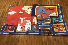Vintage Disney Aladdin 7 Piece Twin Bedding Comforter Sheets Pillowcase Fabric