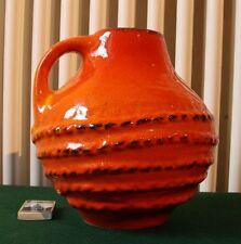 Carstens Keramik Vase 3092-20 Gerda Heukeroth orangerot Vintage Krug