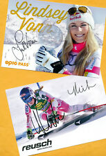 Lindsey vonn-Mikaela shiffrin - 2 ak imágenes (1) - Print copies + ak firmado