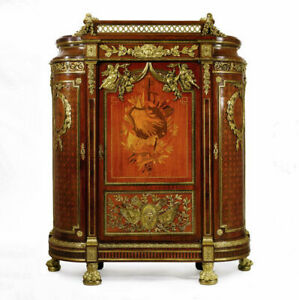 Louis XVI Style Wardrobe Armoire After Guillaume Benneman