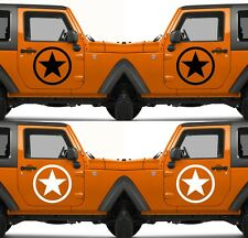 Set of 2 America US U.S. Army Armed Forces Military Star Vinyl Decal Sticker  V9