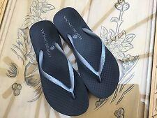 Vionic Orthotic Noosa Flip Flop in Black /Pewter Size UK 5